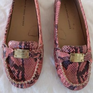 Marc by Marc Jacobs | Pink Snakeskin  Flats
